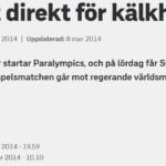 svt.se 5/3-14 http://www.svt.se/sport/paralympics/tufft-direkt-for-kalkhockeylaget