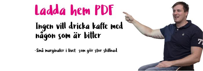 Christian Hedberg Ingen vill dricka kaffe med någn som är bitter